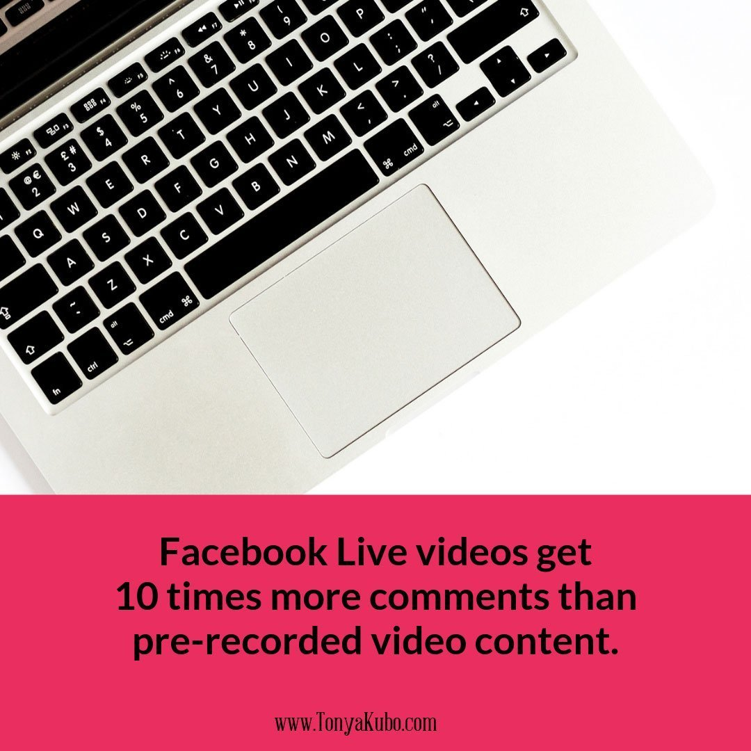 Live video get More Comments than pre-recorded video
