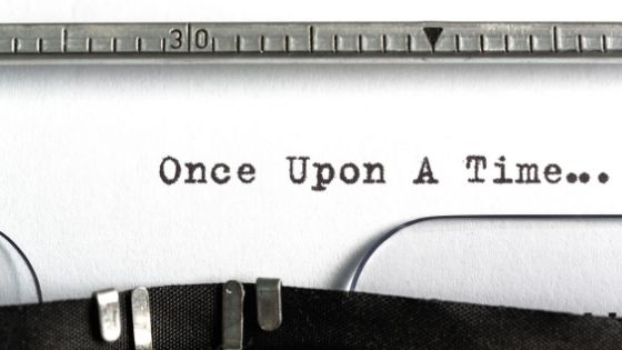 once upon a time typed on old typewriter