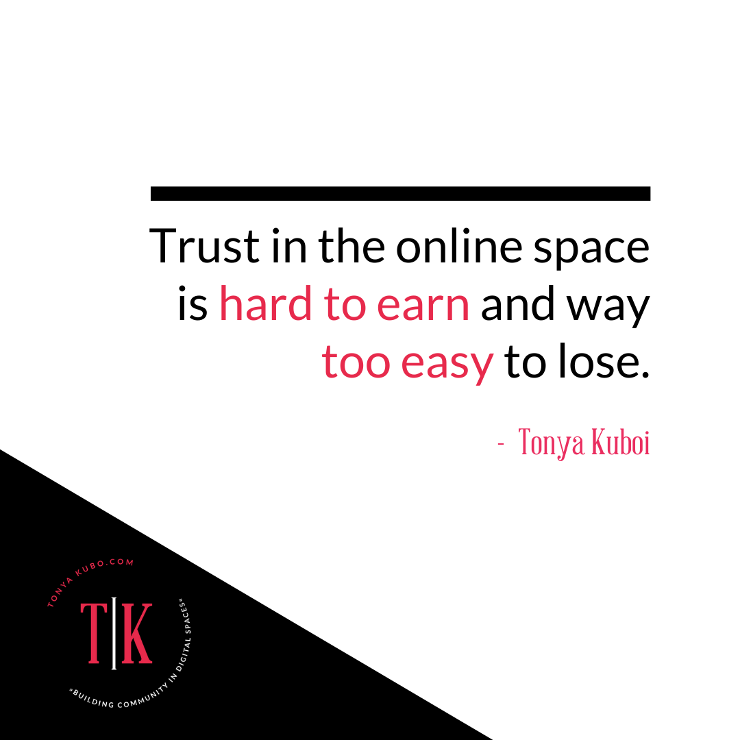 Tonya Kubo quote on trust