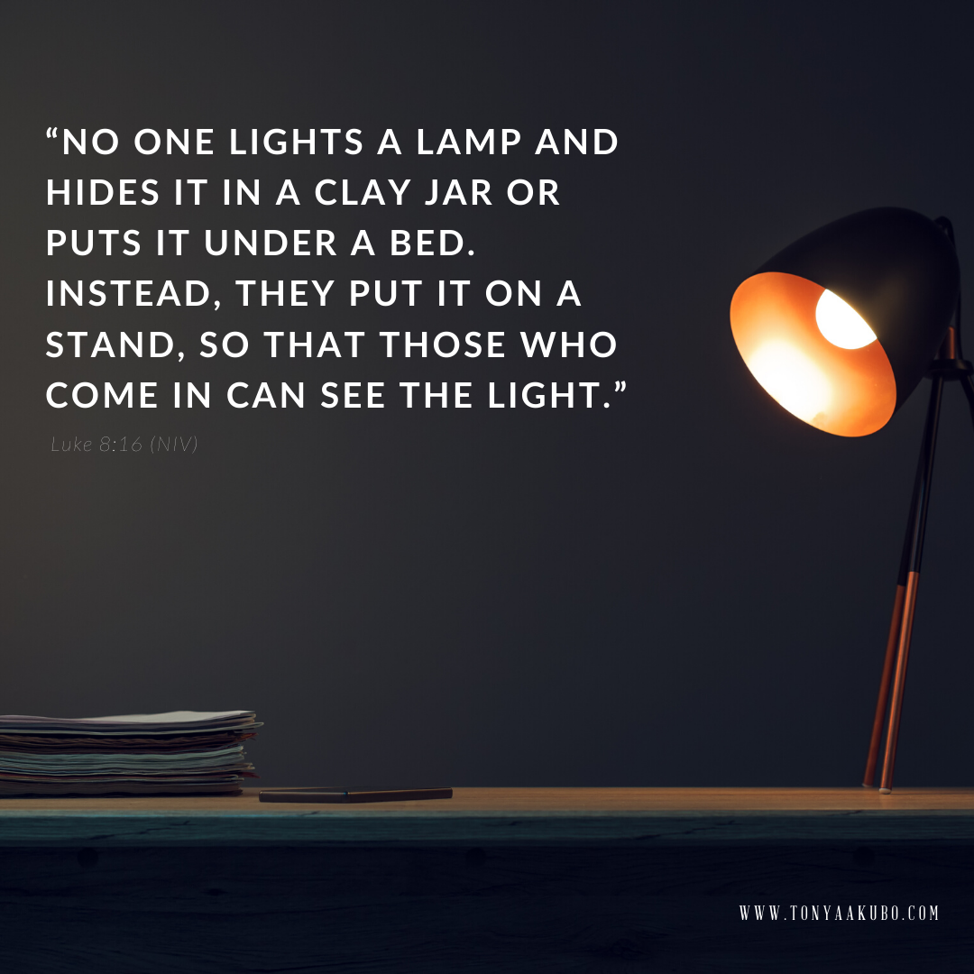 Christian authors are a light in the world luke 8:16
